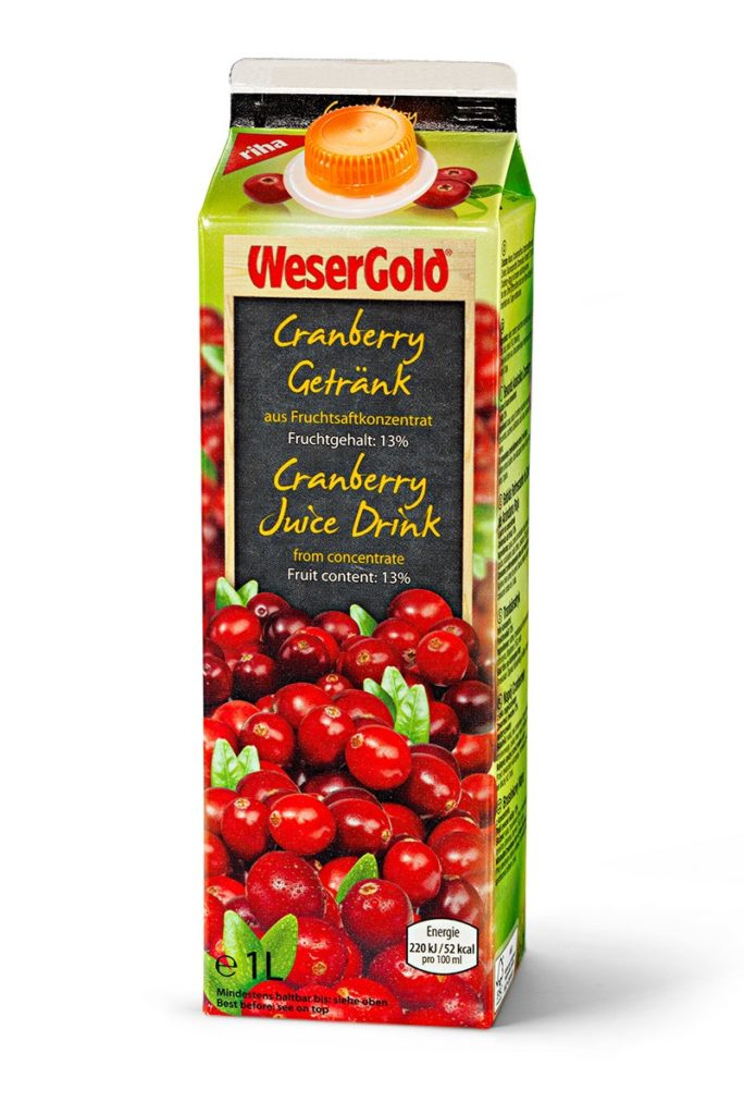 Weser Gold Cranberry 100cl